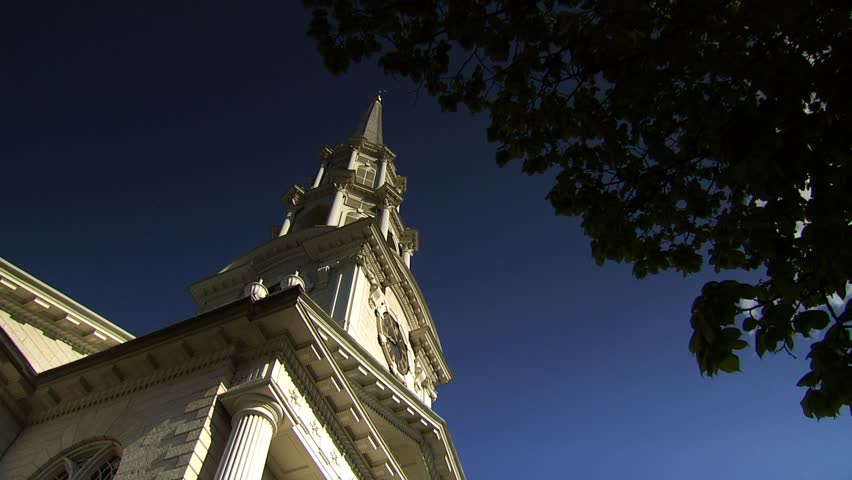 Unitarian Church, Benefit Street, Providence , Rhode Island - HD stock footage clip