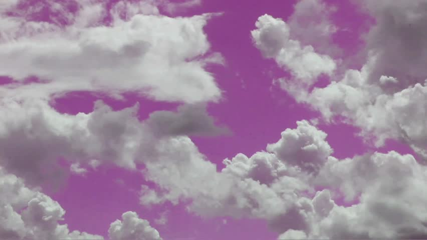 Landscape, blue sky with clouds timelapse - SD stock footage clip