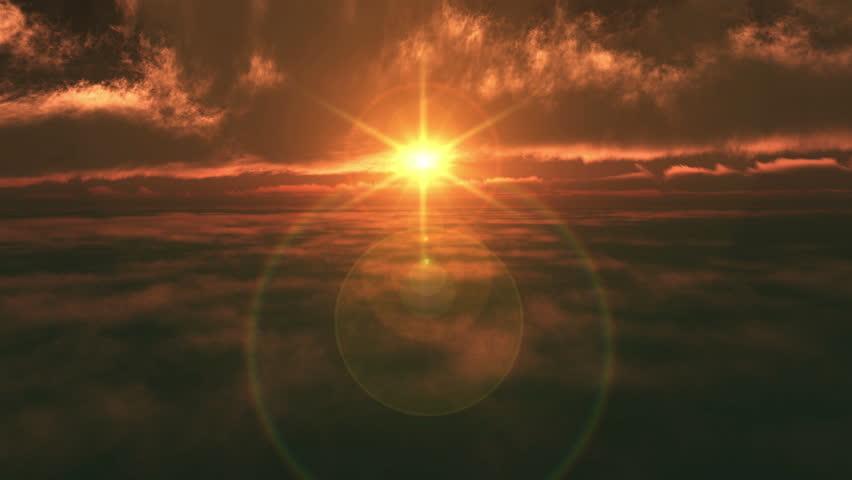 Sunset air plane fly 4k | Shutterstock HD Video #25610324