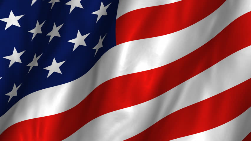 A beautiful satin finish looping flag animation of the USA.    A fully digital rendering using the official flag design in a waving, full frame composition.  The animation loops at 10 seconds.   - HD stock footage clip