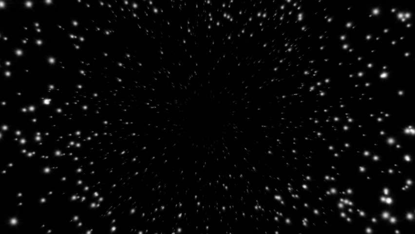 Retro Stars On Blue Night Sky Looping Abstract Animated ...