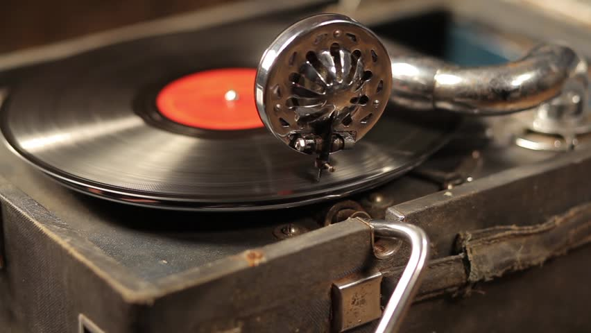 Playing vinyl records on a retro gramophone, potefone | Shutterstock HD Video #25741220