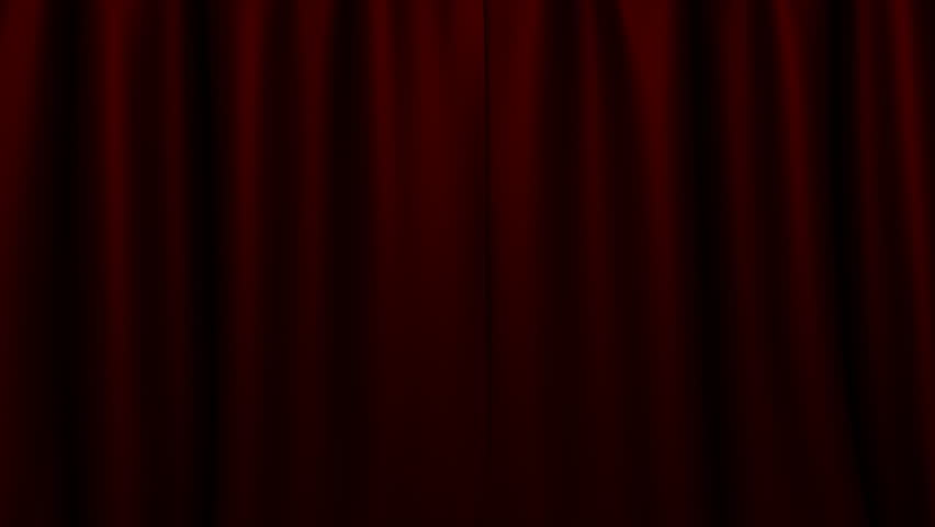 Black and white theater curtains - 4k Cartoon Animation Footage Video Short Opening Intro