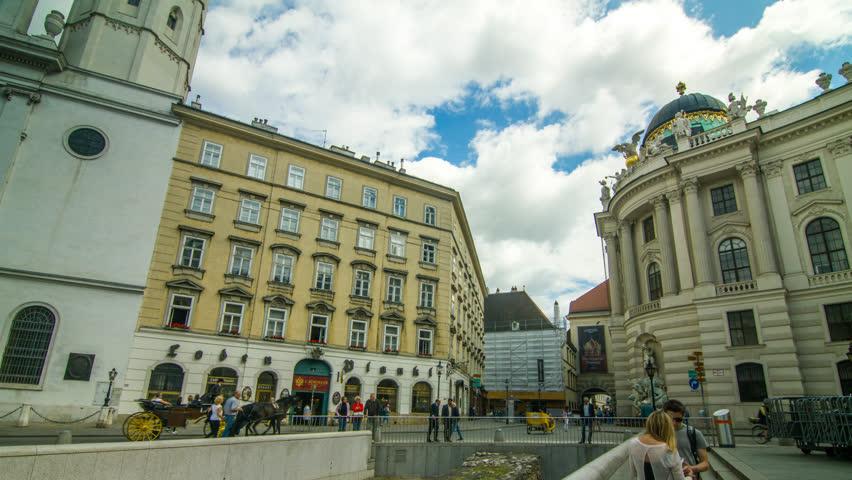 360° Timelapse At Michaelerplatz Vienna City Center Hofreitschule, Vienna/Austria, June 24, 2015 | Shutterstock HD Video #25853477