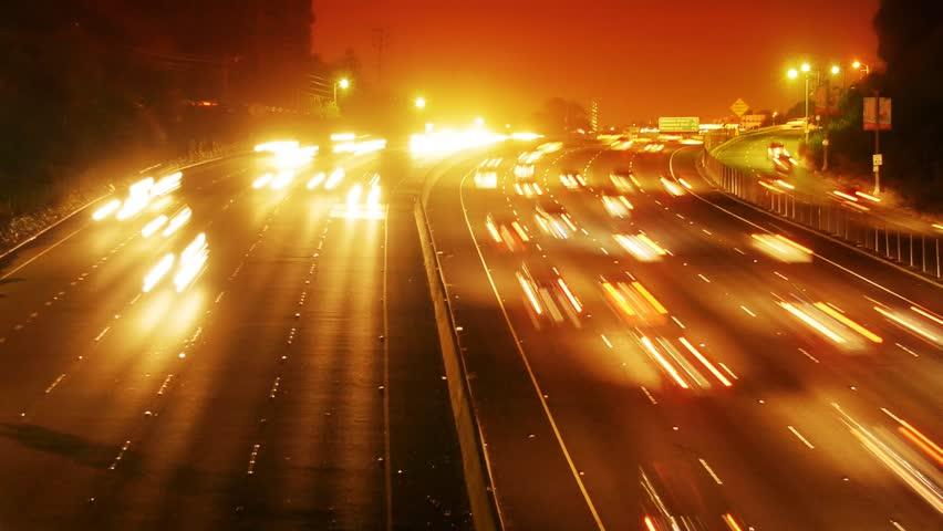Night traffic timelapse.
