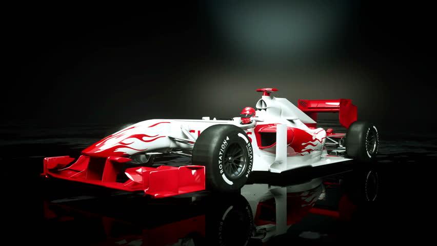 Race sport car in dark studio. realistic 4K animation.   Shutterstock HD Video #25925954