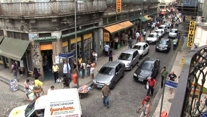 BRAZIL--RIO DE JANEIRO/SAO PAULO -  CIRCA 2010:  Aerial View of Cars on a Highway 2Aerial View of Rush Hour Traffic - HD stock footage clip