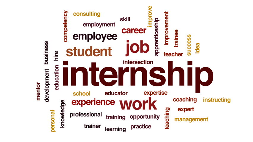 Internship animated word cloud, text design animation. | Shutterstock HD Video #26049182