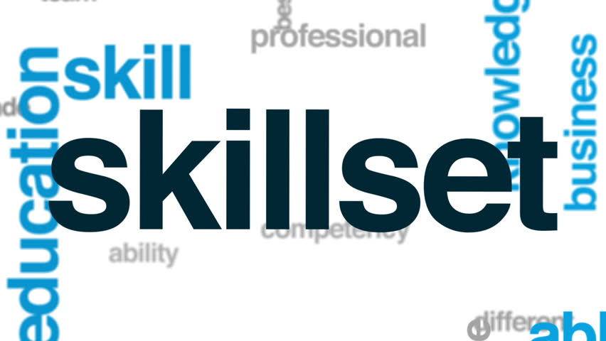 Skillset animated word cloud, text design animation. | Shutterstock HD Video #26093462