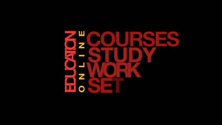 Words about education. Typography animation with alpha channel. | Shutterstock HD Video #26098934