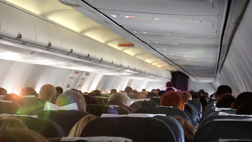 The plane hit the turbulence zone, a first-person view, hd 1080p | Shutterstock HD Video #26112452