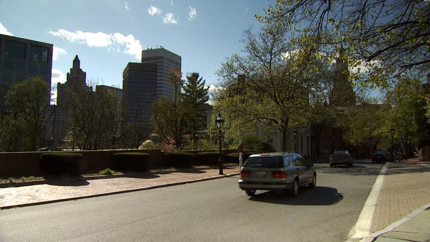PROVIDENCE, RHODE ISLAND - CIRCA JUNE 2008: Providence Rhode Island - Benefit Street  - HD stock video clip
