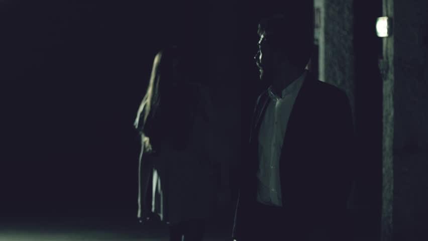 Man running away from zombie slow motion | Shutterstock HD Video #26192318