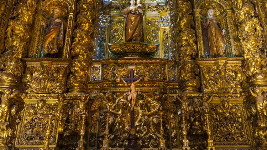 Header of altarpiece