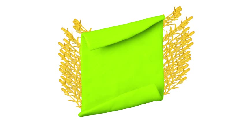 Green ribbon with Plasticine wheat. Background for farm. Alpha matte. Clay animation. 4K   Shutterstock HD Video #26217653
