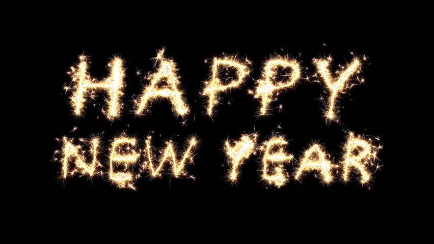 4 Sparkler animations. Happy New Year, Heart, 2018 & circle.   Shutterstock HD Video #26217680
