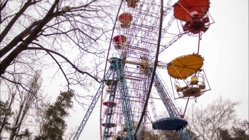 Ferris wheel in the park in Kiev. March 2017. time lapse | Shutterstock HD Video #26217950