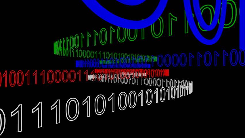 Binary Codes - HD stock footage clip