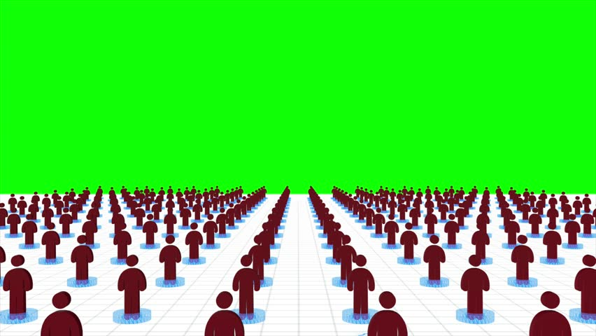 3d animation of people network linking sharing information and connecting together in internet or telecommunication social media concept with chroma key green screen background 4k.    Shutterstock HD Video #26221217