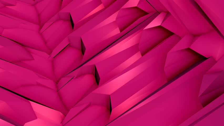 Perfectly seamless (no fade) loop features a complex vivid pink animation pattern, perhaps resembling machinery parts, rotating and twisting. | Shutterstock HD Video #26221487