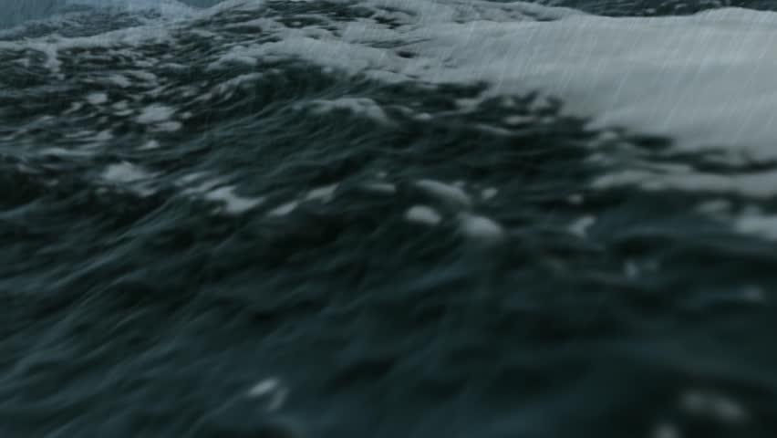 Ocean storm close in Full HD - HD stock video clip