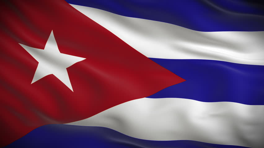 Highly detailed Cuban flag ripples in the wind. Looped 3d animation for continuous playback. - HD stock footage clip