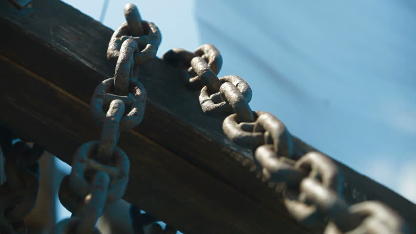 Rusty Chain Links - HD stock video clip