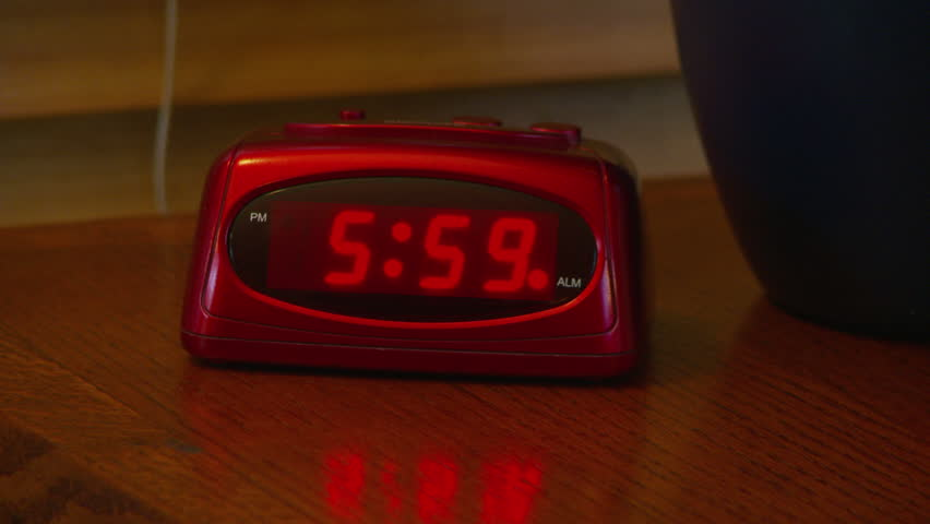 Alarm Clock Going Off At 6 AM Stock Footage Video 2631074