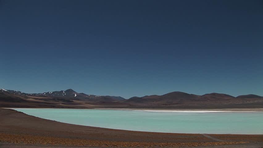 Salt lake in Atacama Desert, Chile - HD stock video clip