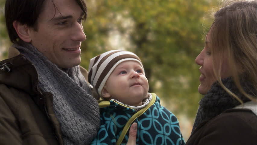 A smiling family - HD stock footage clip