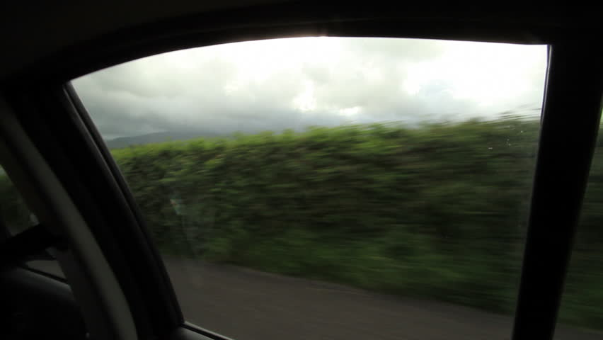 POV shot of Ireland from a car window. - HD stock footage clip