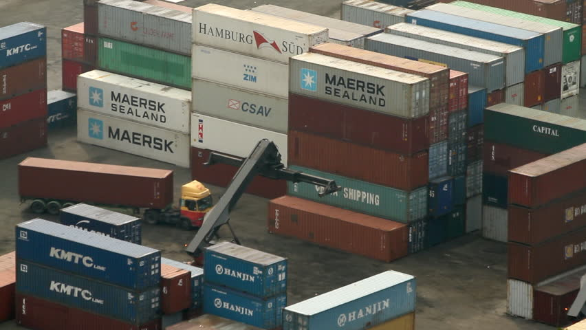 HONG KONG - NOVEMBER 3: Time lapse of Container Terminal on November 3, 2010 in