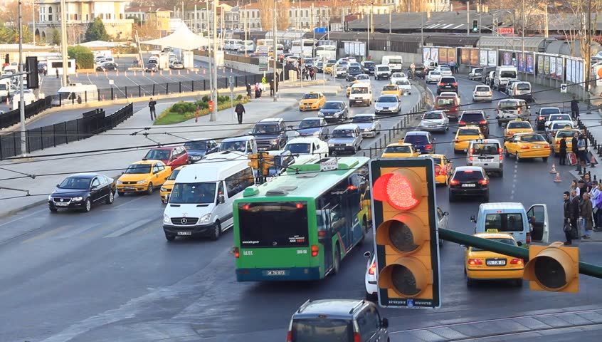 ISTANBUL - DECEMBER 3: Traffic and horn noise at Sirkeci on December 3, 2010 in
