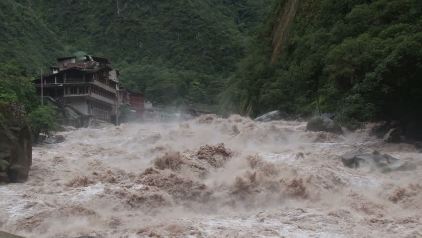 Urubamba River in full flood