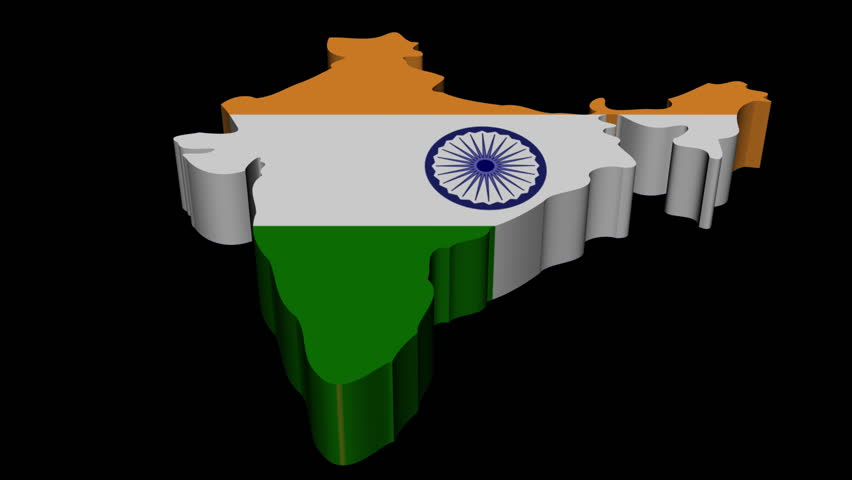 For Indian Flag Hd Animation: India Map Flag With Many People Animation Stock Footage