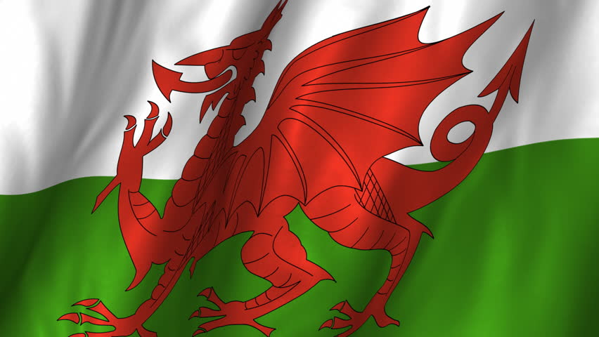 A Beautiful Satin Finish Looping Flag Animation Of Wales ...