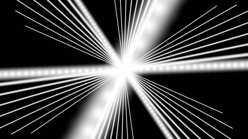 Abstract CGI motion graphics and animated background with revolving white lines | Shutterstock HD Video #2721956
