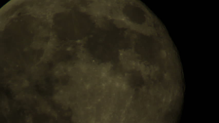 Moon 22 - Telescope - HD stock video clip