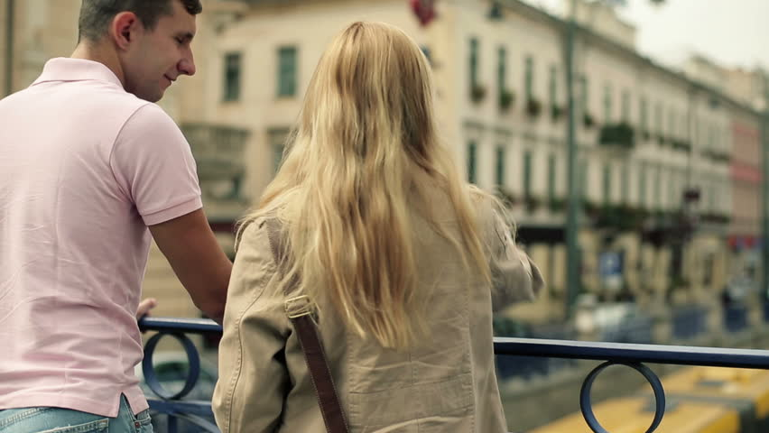 Young couple standing in the city | Shutterstock HD Video #2750639