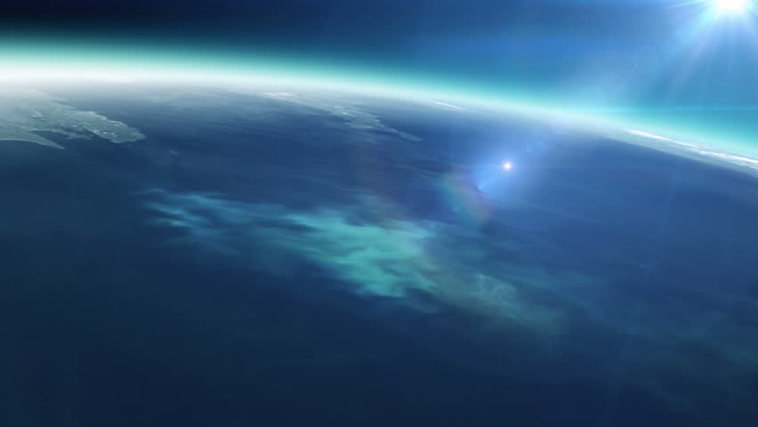 Planet earth with sunrise in space - HD stock video clip
