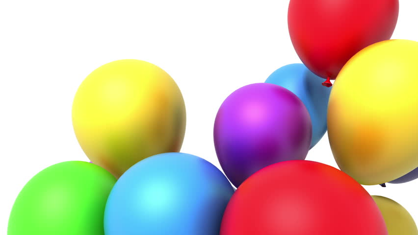 Balloons, 3d animation, alpha included