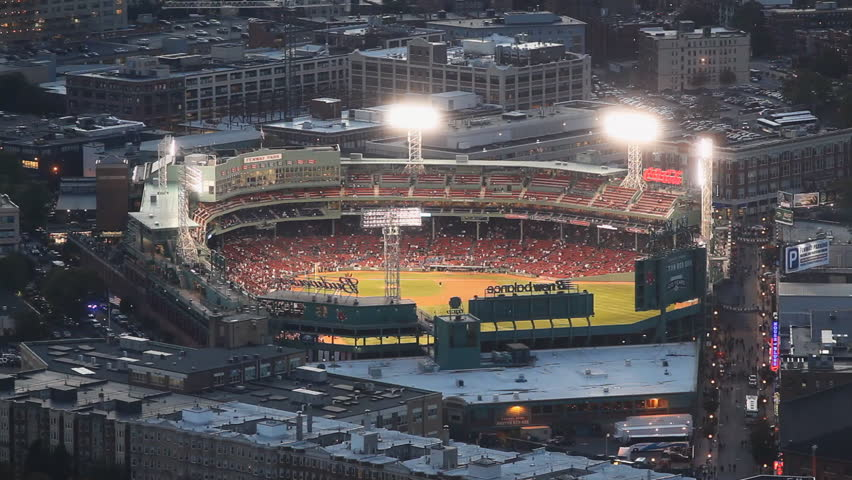 BOSTON - CIRCA SEPTEMBER 2012: Fenway Park in Boston, MA, home to the Boston Red Sox and America's oldest baseball stadium, celebrates it's 100th anniversary, circa September 2012.