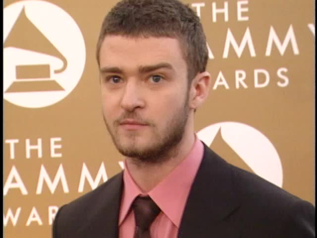 Los Angeles, CA - FEBRUARY 08, 2004: Justin Timberlake walks the red carpet at the Grammy Awards 2004 held at the Staples Center