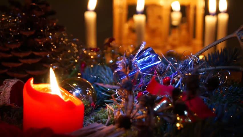 Christmas Pyramid / Christmas time - HD stock footage clip