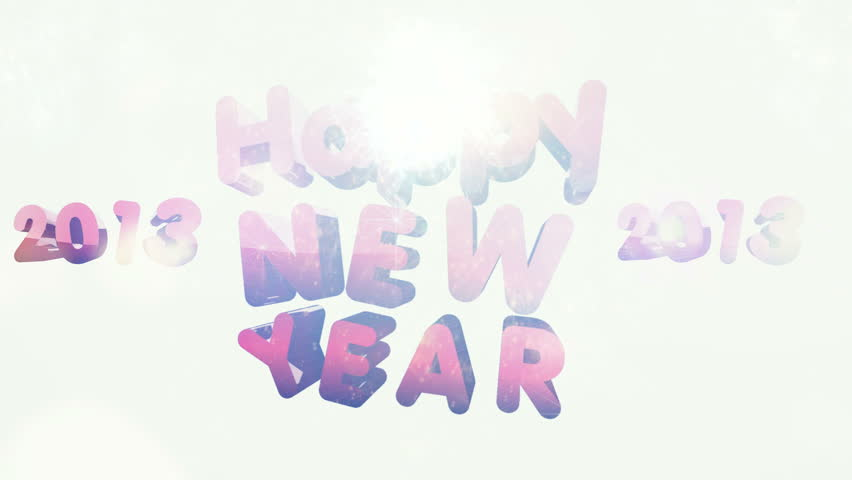 Happy New Year 2013 different animation