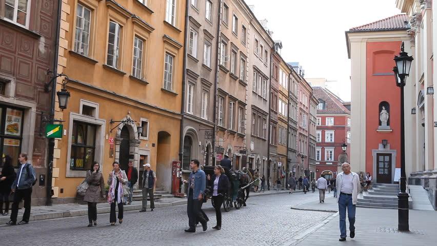 WARSAW, POLAND - MAY 15, 2011 Stare Miasto, Royal Palace, Castle, Warsaw Old Town, Poland