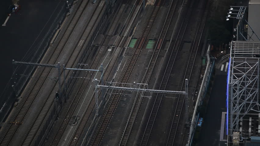 Tokyo Railway, Japan, Regional Train Passing, Speed Train, Metropolitan Area
