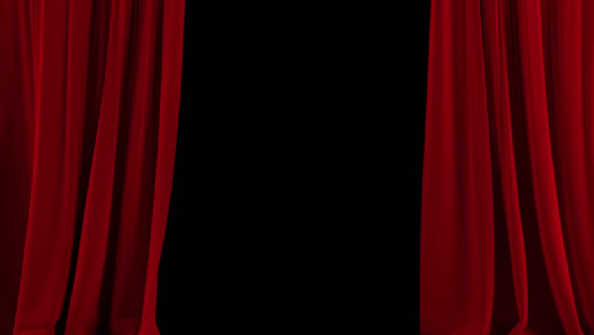 Opening and closing red curtain stock animation royalty free stock - Red Theater Velvet Curtains Opening And Closing Stock