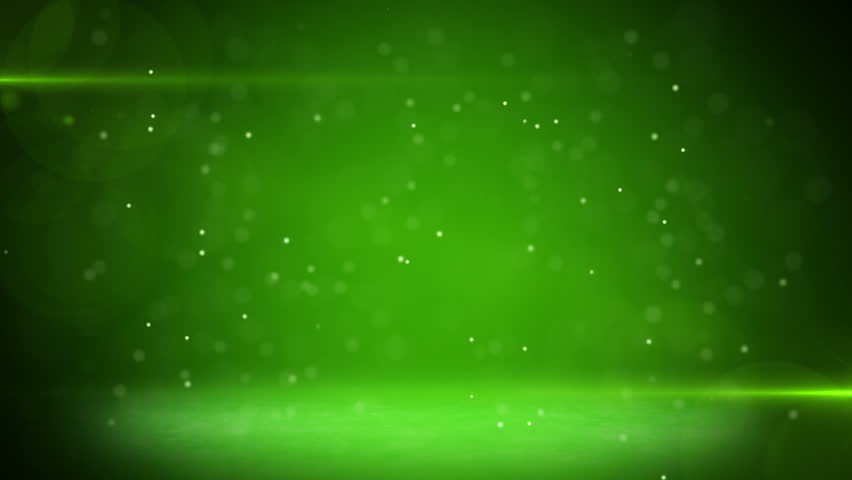 green light beams and particles loopable background - HD stock video clip