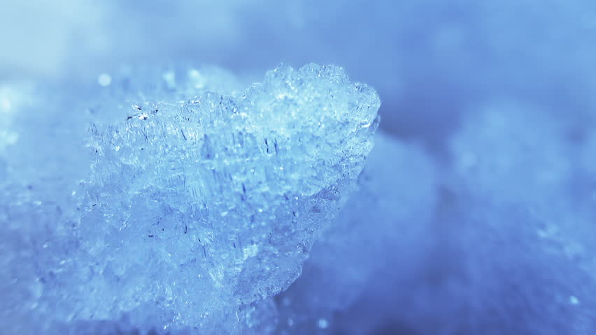 thawing blue ice close-up timelapse - HD stock footage clip